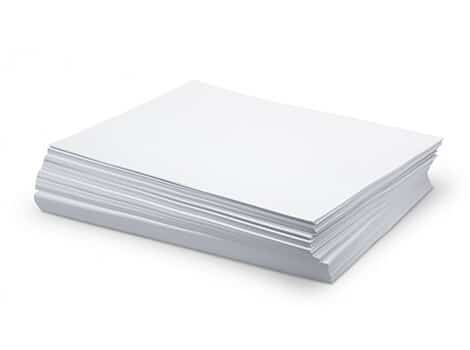 commonly used printing paper