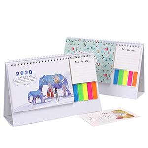 Custom Desk Calendar Printing With Note Pad