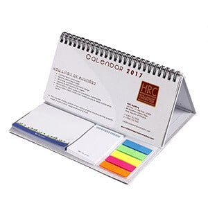 Custom Desk Calendar Printing With Note Pad