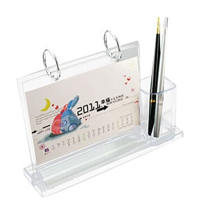 Custom Desktop Acrylic Calendar Printing With Pen holder