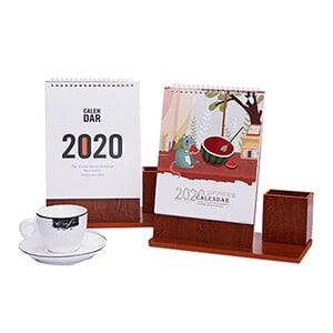 Custom Wood Calendar With Pen Holder